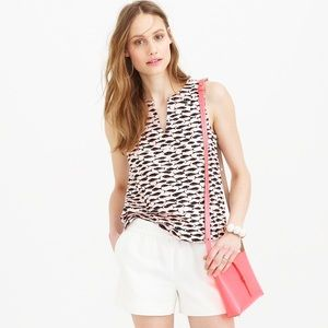 J. Crew Tops - J Crew Minnow Fish Print Shell Sleeveless Tank Top